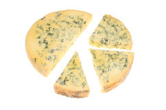 Stilton cheese pie chart Stock Images