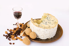 Stilton Cheese with port & nuts Royalty Free Stock Image