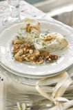 Stilton cheese and walnuts Stock Photography