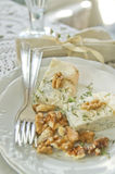 Stilton cheese and walnuts Royalty Free Stock Image