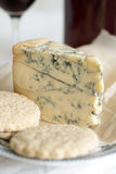 Stilton cheese and wine Royalty Free Stock Photography