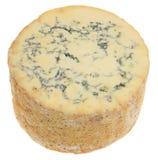 Stilton-Käse lokalisiert auf Weiß stockfoto