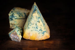 Stilton mature blue cheese Stock Images