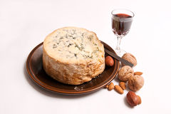 Stilton, nuts & port Royalty Free Stock Image