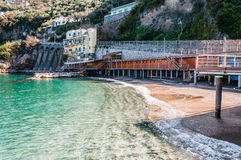 Stilts over the Sorrento coast sea Royalty Free Stock Images