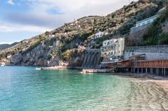 Stilts over the Sorrento coast sea Stock Image