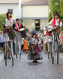 Stilts Performers in Italy Stock Images