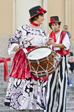 Stilts Performers in Italy Stock Image