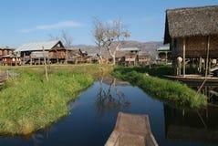 The stilts village of Maing Thauk on Lake Inle. Burma Stock Images