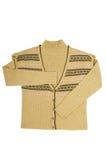 Stilvoll wärmen Sie Weste und Strickjacke auf einem Weiß. Lizenzfreies Stockbild