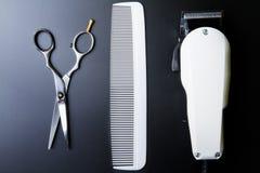 Stilvolle Berufs-Barber Scissors, Haar-Ausschnitt und Verringerung Stockbild
