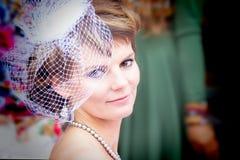 Stilvolle Braut stockfotografie