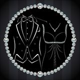 Stilvolle Einladungs- oder Hochzeitskarte Lizenzfreies Stockfoto