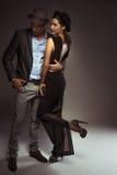 Stilvolle elegante Paare auf einem Datum Lizenzfreies Stockfoto