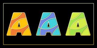 Stilvolle Emailmosaik AAA-Fahne Stockbild