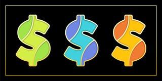 Stilvolle Emailmosaik-Dollarzeichenfahne Lizenzfreies Stockbild
