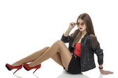 Stilvolle Frau Stockfoto