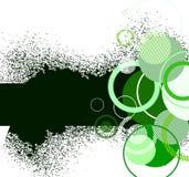 Stilvolle grüne Fahne. Vektorabbildung Stockfoto