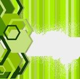 Stilvolle grüne Fahne. Vektorabbildung Stockfotos