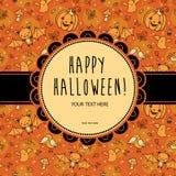 Stilvolle Halloween-Karte im Vektor stock abbildung