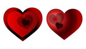 Stilvolle Herzen für heißes Liebesthema Stockfoto