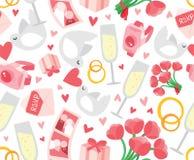 Stilvolle Hochzeits-nahtloser Hintergrund Stockbild