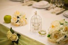 Stilvolle Hochzeitstafeldekoration Lizenzfreie Stockbilder