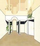 Stilvolle Innenbüroräume Stockbilder