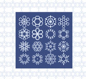 Stilvolle kreative geometrische Vektorzeichen Modernes Art clipart PA lizenzfreie abbildung