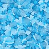 Stilvolle Linie freies nahtloses Muster des Sternes Lizenzfreie Stockfotos