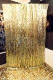 Stilvolle Luxusscheinzone für Fotos am goldenen Geburtstags-PA Lizenzfreies Stockfoto