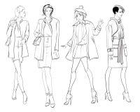 Stilvolle Mode-Modelle Recht junge Mädchen Art und Weisemädchen Stockfoto