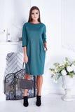 Stilvolle modische Kleidung des schönen sexy Frauenkleidungs-Kataloges Stockbild