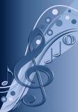 Stilvolle musikalische Auslegung in den blauen Tönen Stockfotografie