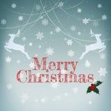 Stilvolle Retro- Weihnachtskarte Lizenzfreie Stockfotos