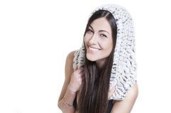 Stilvolle schöne lächelnde Frau getrennt Lizenzfreies Stockfoto