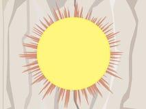 Stilvolle Sonne vektor abbildung