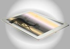 Stilvolle Tablette Freier Raum für mocap lizenzfreie abbildung