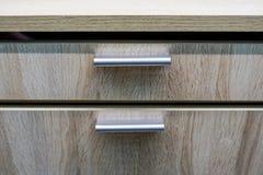 Stilvolle und elegante Küchenarbeitsplatte lizenzfreie stockbilder