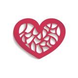 Stilvolle Valentinstag-Karte lizenzfreie abbildung