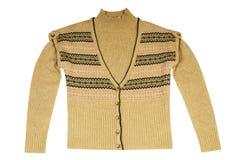Stilvolle warme Weste und Strickjacke auf einem Weiß. Lizenzfreie Stockfotografie