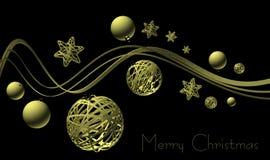 Stilvolle Weihnachtsgeschäfts-Grußkarte Lizenzfreie Stockfotografie