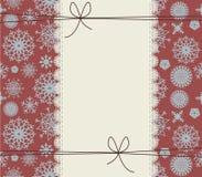 Stilvolle Winterabdeckung mit Schneeflocken Lizenzfreies Stockfoto