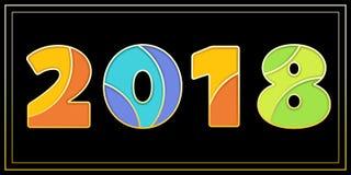 Stilvolle Zeichenfahne des Emailmosaiks 2018 Stockfotos