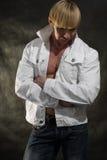 Stilvoller Bodybuilder Lizenzfreie Stockfotos