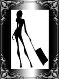 Stilvoller Damereisender Stockfotografie