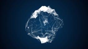 Stilvoller dynamischer digitaler Hintergrund des abstrakten Technologieplexus lizenzfreie abbildung