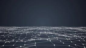 Stilvoller dynamischer digitaler Hintergrund des abstrakten Technologieplexus vektor abbildung