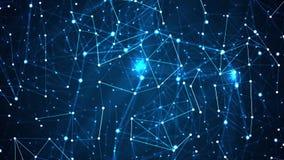 Stilvoller dynamischer digitaler Hintergrund des abstrakten Technologieplexus stock abbildung
