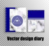 Stilvoller Entwurf für Tagebücher und Notizbücher mit einem kreativen Entwurf vektor abbildung